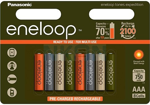 8бр. AAA Eneloop Expedition (limited edition)  - 750mAh